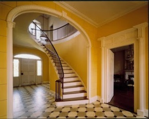 Beautiful main staircase in Vanderpoel house