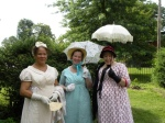 Shari, Maureen and Bonnie in their walking finery